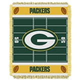 "Green Bay Packers NFL ""Field"" Baby Woven Jacquard Throw"