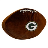 Green Bay Packers NFL  Football Shaped 3D Plush Pillow