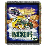 "Green Bay Packers NFL ""Home Field Advantage"" Woven Tapestry Throw"