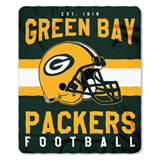 "Green Bay Packers NFL ""Singular"" Fleece Throw"