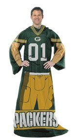 "Green Bay Packers NFL ""Uniform"" Adult Comfy Throw"