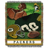 "Green Bay Packers NFL ""Vintage"" Woven Tapestry Throw"