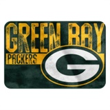 "Green Bay Packers NFL ""Worn Out"" Bath Mat"
