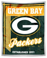 "Green Bay Packers ""Old School"" Mink with Sherpa Throw"