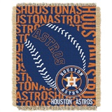 "Houston Astros MLB ""Double Play"" Woven Jacquard Throw"