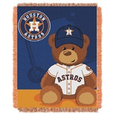 "Houston Astros MLB ""Field Bear"" Baby Woven Jacquard Throw"