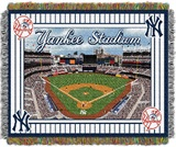 "New York Yankees MLB "" Yankee Stadium Stadium"" Woven Tapestry Throw"