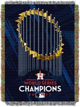 Houston Astros World Series Champs Commemorative Woven Tapestry Throw