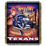 "Houston Texans NFL ""Home Field Advantage"" Woven Tapestry Throw"