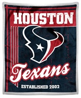 "Houston Texans NFL ""Old School"" Mink Sherpa Throw"