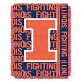 "Illinois ""Double Play"" Woven Jacquard Throw"