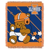 "Illinois ""Fullback"" Baby Woven Jacquard Throw"