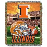 "Illinois ""Home Field Advantage"" Woven Tapestry Throw"