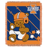 "Illinois  Illini NCAA ""Fullback"" Baby Woven Jacquard Throw"