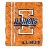 "Illinois ""Jersey"" Sherpa Throw"