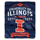 "Illinois ""Label"" Raschel Throw"