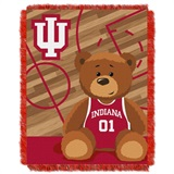 "Indiana  Hoosiers NCAA ""Fullback"" Baby Woven Jacquard Throw"