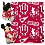 "Indiana Hoosiers NCAA ""Mickey"" Hugger and Fleece Throw"