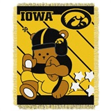 "Iowa  Hawkeyes NCAA ""Fullback"" Baby Woven Jacquard Throw"