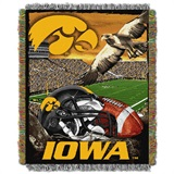 "Iowa Hawkeyes NCAA ""Home Field Advantage"" Woven Tapestry Throw"