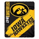 "Iowa Hawkeyes NCAA ""Painted"" Fleece Throw"