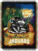 "Jacksonville Jaguars NFL ""Home Field Advantage"" Woven Tapestry Throw"