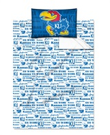 "Kansas Jayhawks ""Anthem"" Twin Sheet Set"