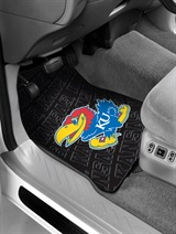 Kansas Jayhawks Car Floor Mat Set