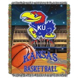 "Kansas Jayhawks ""Home Field Advantage"" Woven Tapestry Throw"