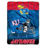 "Kansas Jayhawks ""Overtime"" Micro Raschel Throw"