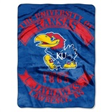 "Kansas Jayhawks ""Rebel"" Raschel Throw"