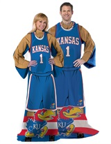 "Kansas Jayhawks ""Uniform"" Adult Comfy Throw"