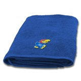 Kansas Jayhawks Applique Bath Towel
