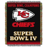 "Kansas City Chiefs ""Commemorative"" Woven Tapestry Throw"