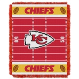 "Kansas City Chiefs ""Field"" Baby Woven Jacquard Throw"