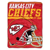 "Kansas City Chiefs NFL ""40 yard Dash"" Micro Raschel Throw"