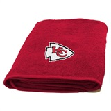Kansas City Chiefs NFL Applique Bath Towel
