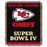 "Kansas City Chiefs NFL ""Commemorative"" Woven Tapestry Throw"