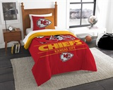 "Kansas City Chiefs NFL ""Draft"" Twin Comforter Set"