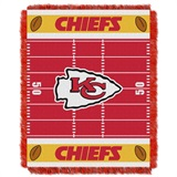 "Kansas City Chiefs NFL ""Field"" Baby Woven Jacquard Throw"