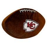 Kansas City Chiefs NFL  Football Shaped 3D Plush Pillow