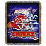 "Kansas City Chiefs NFL ""Home Field Advantage"" Woven Tapestry Throw"