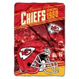 "Kansas City Chiefs NFL ""Stagger"" Micro Raschel Throw"
