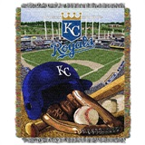 "Kansas City Royals MLB ""Home Field Advantage"" Woven Tapestry Throw"
