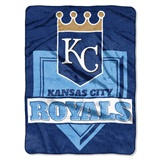 "Kansas City Royals MLB ""Home Plate"" Raschel Throw"