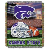 "Kansas St Wildcats NCAA ""Home Field Advantage"" Woven Tapestry Throw"