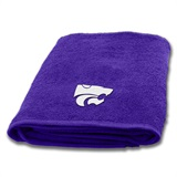 Kansas State Applique Bath Towel