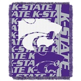 "Kansas State  Wildcats NCAA ""Double Play"" Woven Jacquard Throw"