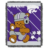 "Kansas State  Wildcats NCAA ""Fullback"" Baby Woven Jacquard Throw"