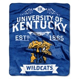 "Kentucky ""Label"" Raschel Throw"